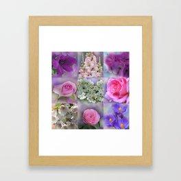 flower collage for wood wall art -01- Framed Art Print