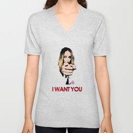 """I want you"" Alycia Debnam Carey Unisex V-Neck"