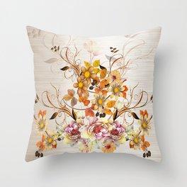 Fall Flower Centerpiece Throw Pillow