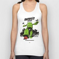 android Tank Tops featuring ANDROID ATTACK by Adams Pinto