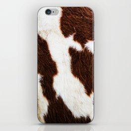 Cowhide Brown Spots iPhone Skin
