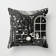 Moon Altar Throw Pillow