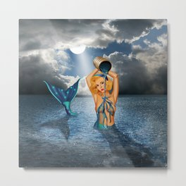The bathtub of the mermaid Metal Print