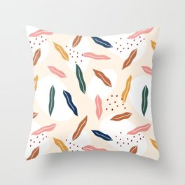 Gum leaf Throw Pillow