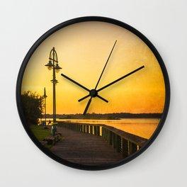 The Fishing Pier Wall Clock