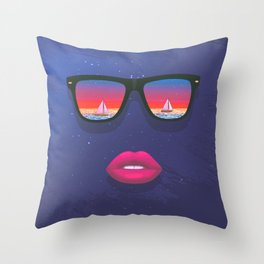 Sailing Dreams Throw Pillow