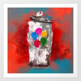 Exploding Spray Paint Can - 784. Art Print