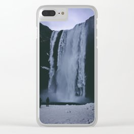 Skogafoss waterfall, Iceland Clear iPhone Case