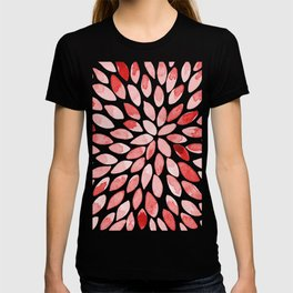 Watercolor brush strokes - red T-shirt