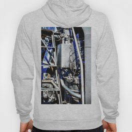 Abstract Of Metal Parts Of A Vintage Steam Engine Locomotive Hoody