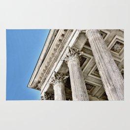 Roman Temple Corinthian Columns Nimes Provence France Rug