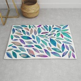 Diamond Leaves – Indigo Rug