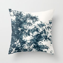 Blue Leaves #1 Throw Pillow