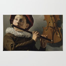 "Judith Leyster ""Boy playing the Flute"" Rug"