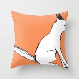 A Fox in The Park Throw Pillow