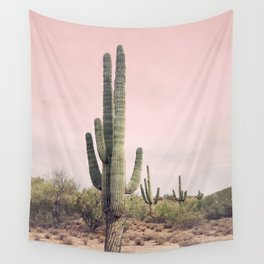 Blush Sky Cactus Wall Tapestry