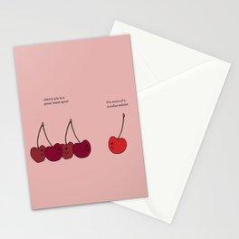 Cherry Ice Cream Sundae Stationery Cards
