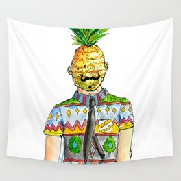 Mr. Pineapple Wall Tapestry