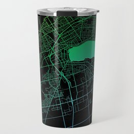 Barrie, ON, Canada, City, Map, Rainbow, Map, Art, Print Travel Mug