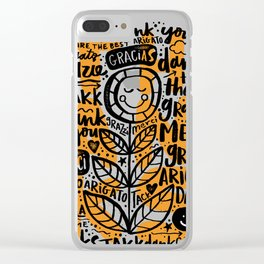 merci thanks grazie arigato Clear iPhone Case