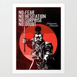 Musashi Samurai - No fear... Art Print