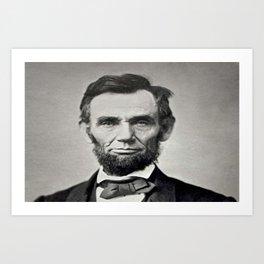 Portrait of Abraham Lincoln by Alexander Gardner Art Print