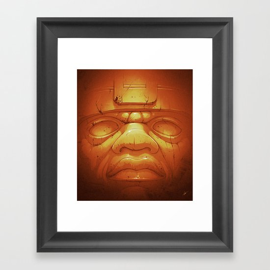 Olmeca II. (Gold) Framed Art Print
