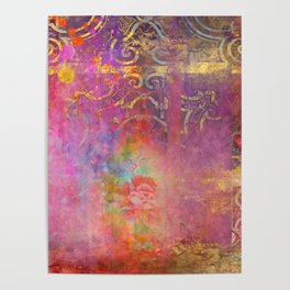 Boho Rose Poster