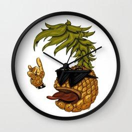 Crazy Rock Pineapple Wall Clock