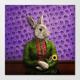 Miss Bunny Lapin in Repose Canvas Print