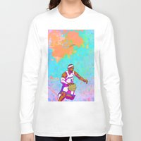 lebron Long Sleeve T-shirts featuring LeBron James by Maddison Bond