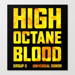 Mad Max Fury Road High Octane Blood Canvas Print
