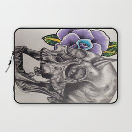 Skull and Rose Laptop Sleeve
