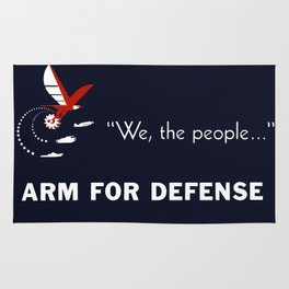 We The People Arm For Defense Rug