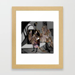 personality, psychology, split personality, marionettes, images, perception of reality, inner world Framed Art Print