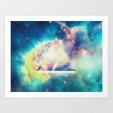 Awsome collosal deep space triangle art sign Art Print