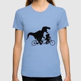 Gone Squatchin cycling with T-rex T-shirt