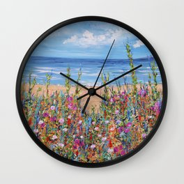 Summer Beach, Impressionism Seascape Wall Clock