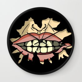 Mad Smile Wall Clock
