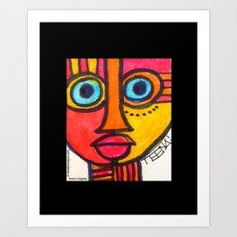 Vibrant Juju Mask #01 Art Print
