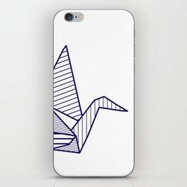 Swan, navy lines iPhone Skin