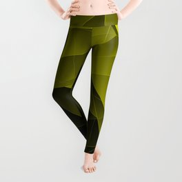 Repetitive overlapping sheets of dark yellow paper triangles. Leggings