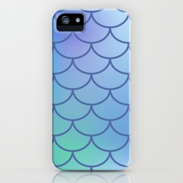 Blue & Purple Mermaid iPhone Case