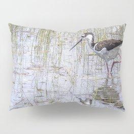 Black-necked Stilt, No. 2 painterly Pillow Sham