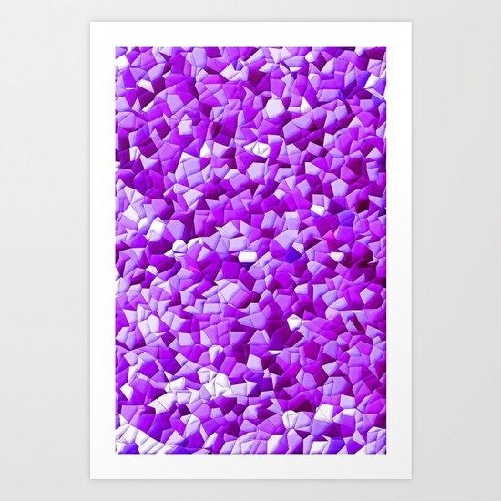random purple shapes Art Print