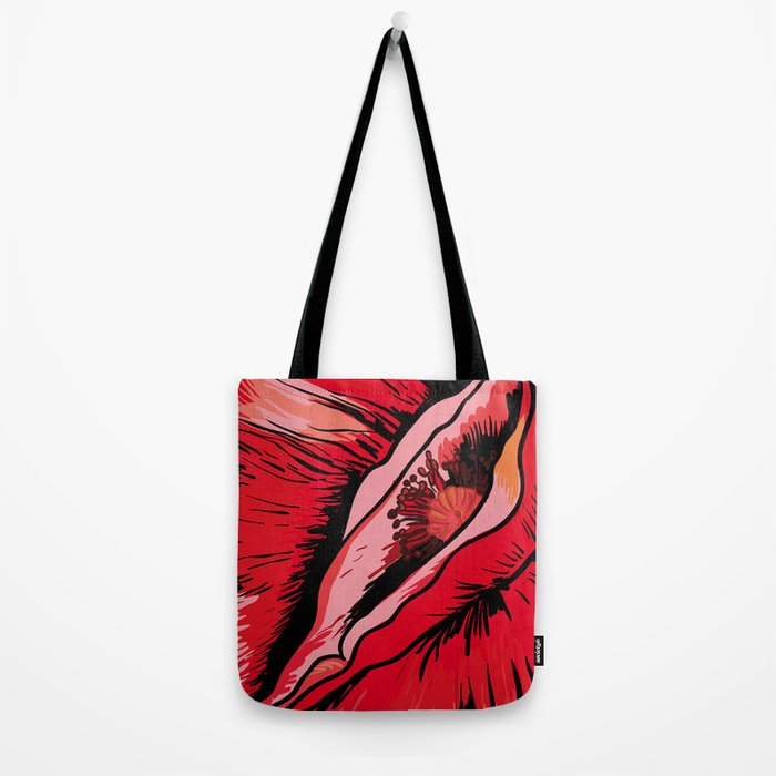 Erotic poppy variation Tote Bag