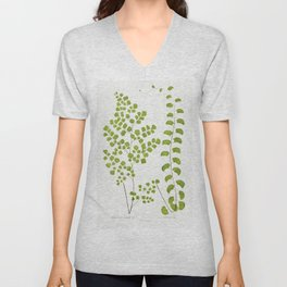 Adiantum Assimile and A Lunulatum from Ferns British and Exotic (1856-1860) by Edward Joseph Lowe Unisex V-Neck