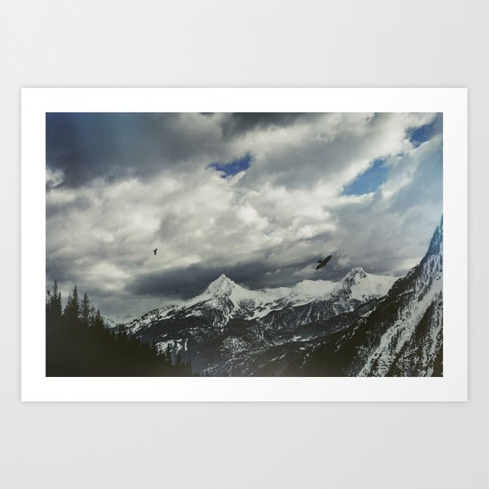 Wild Winter Mountains Art Print