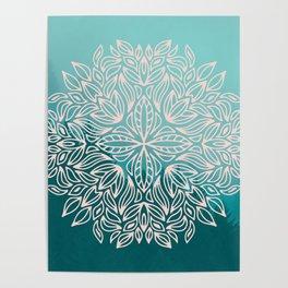 Mandala Forest Dawn Poster