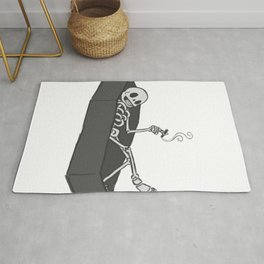 Smoke In Coffin Rug